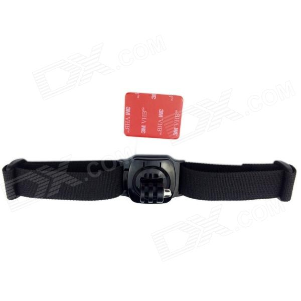 TOZ TZ-GP154 360?? Rotation Helmet Strap Mount w/ 3M Sticker for Gopro Hero 4/ / 2 / 3 / 3+ - Black цена и фото