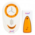 3-in-1 Wireless Door Bell w/ Remote Control - White + Orange