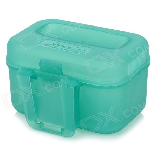 ABS Plastic Fish Bait Box - Light BlueFishing Gear<br>Durable and convenient to carry; With waist clip<br>