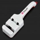 High-speed Steel + ABS Dual Slot Knife Sharpener - White + Red