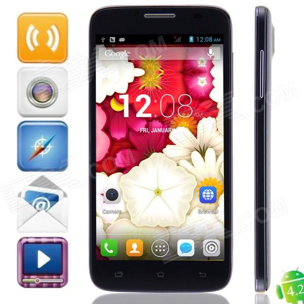Mpie MP-H118 MTK6572 Dual-core Android 4.2.2 WCDMA Bar Phone w/ 5.0 IPS, Wi-Fi and GPS - Black