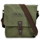 Locallion 1302 Casual Waterproof Canvas Bag Messenger - Army Green