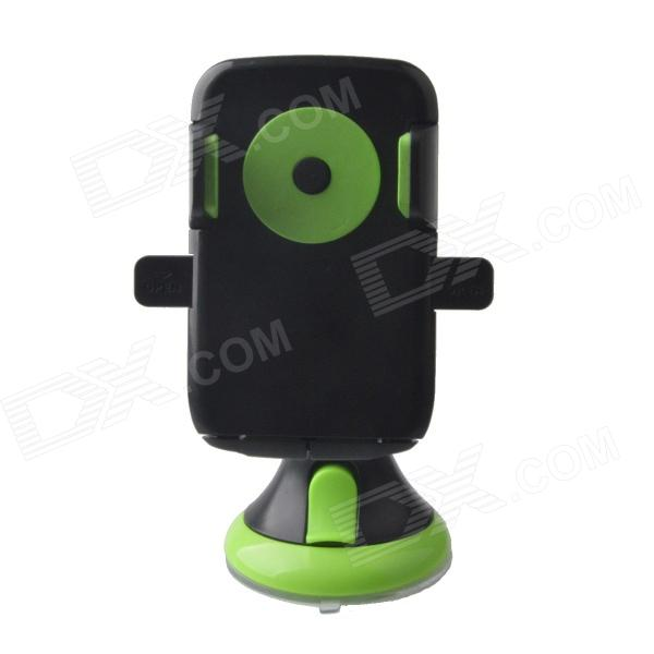 JHD-12HD68 Universal 360 Degree Rotatable Car Mount Holder for Cellphone - Black + Green concept car universal windshield mount holder for iphone samsung cellphone black