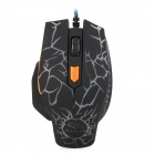 FC-5600 USB 2.0 Wired 3200 / 2400 / 1600 / 800dpi LED Gaming Mouse - Black + White