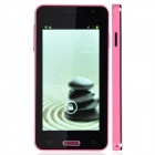 "N075T Dual-core Android 4.2 WCDMA Bar Phone w/ 4.5"" IPS, Wi-Fi, GPS and Dual Camera - Pink"