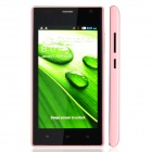 "A1520 Android 4.2 Dual-core WCDMA Bar Phone w/ 4.5"" Screen, Bluetooth, GPS and Wi-Fi - Pink"