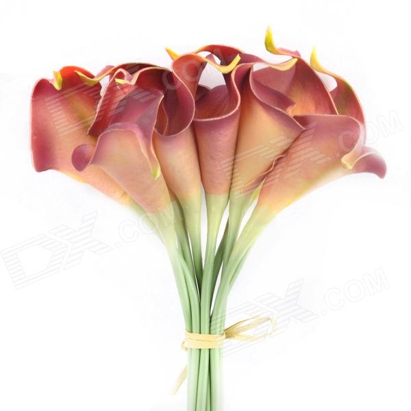 Mini PU Calla Lily Shaped Artificial Flowers (10 PCS)