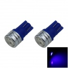 T10 / W5W 1W 100lm 1-COB LED Blue Car Side Light / Clearance / Reading Lamp (12V / 2PCS)