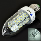 E27 5.5W 480LM 6500K 80-SMD 3528 LED White Light Candle Bulb (AC 85~265V)