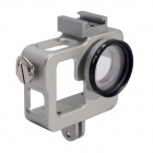 Fat Cat CNC Aluminum Alloy Extension Ultra Heat-Sink Case w/ 37mm MCUV Lens for GoPro Hero 3+ / 3