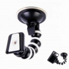 360 Degree Rotary Monopod Octopus Suction Cup Mount for Camera / GPS / DV -Black + White