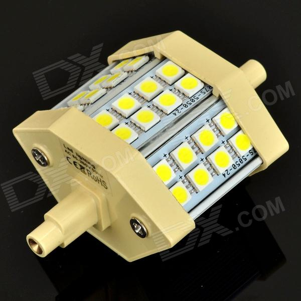 Walangting 5W 360LM 6500K 24-SMD 5050 LED White Light Landscape Bulb (AC 85~265V) r7s 15w 5050 smd led white light spotlight project lamp ac 85 265v