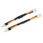 3-Pin Computer CPU Fan Deceleration Cable - White + Black (2 PCS)