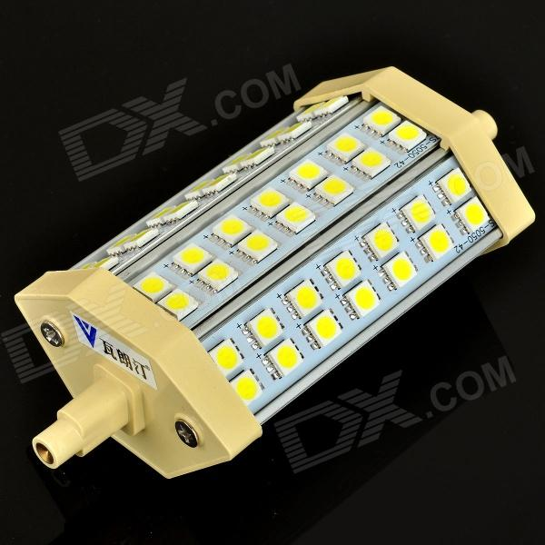 Walangting R7S 10W 630LM 6500K 42-SMD 5050 LED White Light Bulb (AC 85~265V) r7s 15w 5050 smd led white light spotlight project lamp ac 85 265v