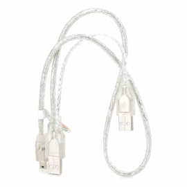 Cable de datos USB a USB / Mini USB translúcido Shield 2A1T - Blanco