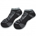 NUCKILY PF01 Men's Comfortable Cotton Sports Socks - Black (Pair)