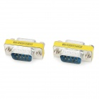 RS232 COM Male to Female Serial Extender Adapters - Azul + Prata (2 PCS)