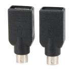 USB Female to PS2 Male Converter Adapter for USB Mouse / Keyboard - Black