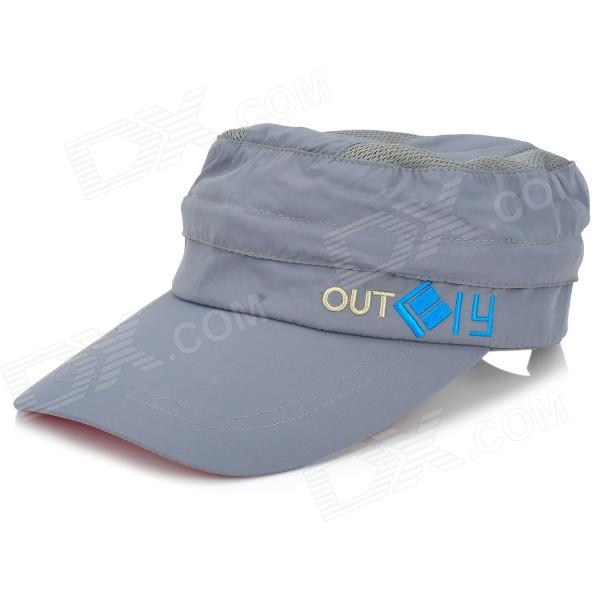 OUTFLY A12026 Spring and Summer Detachable Hat for Men - Grey (Free Size) outfly b12038 men s uv protection visor cap hat w detachable mask deep blue