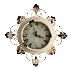 American Country Style Retro Iron Wall Clock (1 x AA)