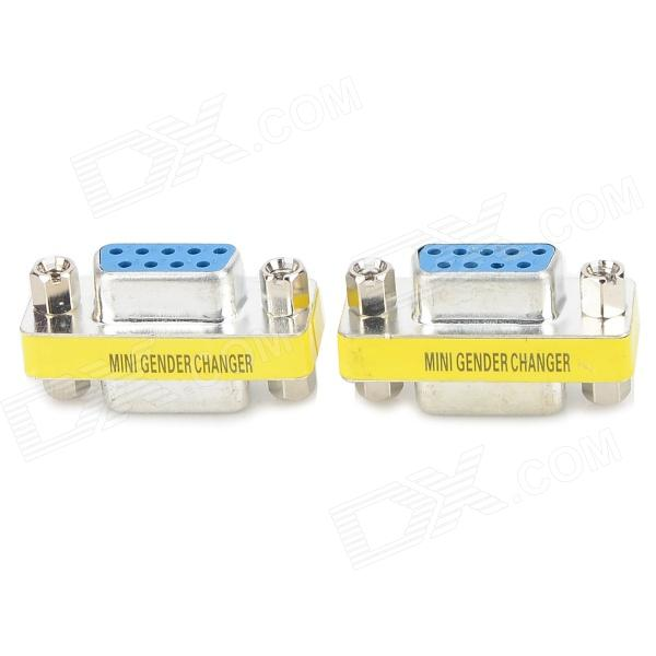 RS232 Serial Female to Female Adapter - Blue + Silver (2 PCS)
