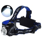 Holyfire F11 LED 3-Mode 900lm White Zooming Headlight - Black + Blue (2 x 18650)