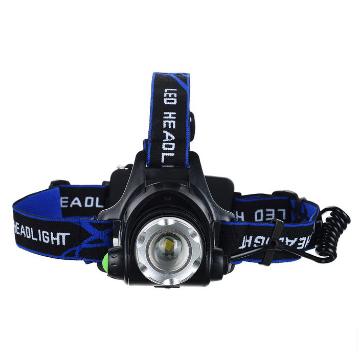 F11 LED 3-Mode 900lm White Zooming Headlight - Black (2*18650) [фото3]