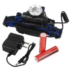 F11 LED 3-Mode 900lm faro de zoom blanco - negro (2 * 18650)