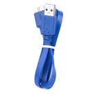USB 3.0 Male to Micro-B Data Connection Flat Cable - Blue (60cm)