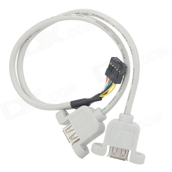 Cable adaptador USB 1 a 2 deflectores - blanco + negro