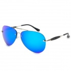 S767 Fashion PC Lens UV400 Protection - Black + Silver + Blue