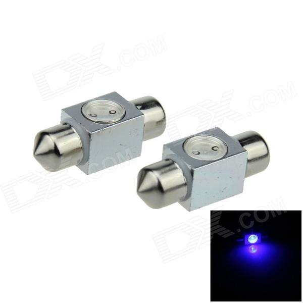 Festoon 31mm 1W 100lm 1-COB LED Blue Car Reading Light / Roof Lamp / Dome Bulb (12V / 2 PCS)