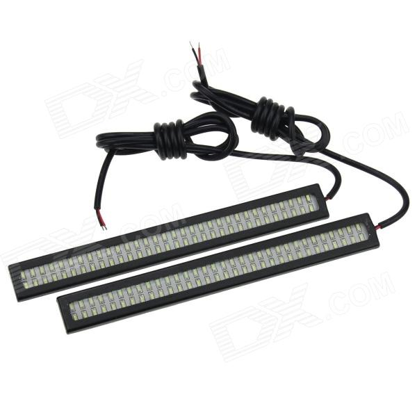 Waterproof 12W 250lm 64-SMD 5630 LED White Car License Plate / Daytime Running Light (12V / 2PCS) cawanerl car 5630 smd led bulb led kit package white truck dome map trunk license plate light for 2009 2016 dodge ram 1500