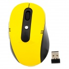 Promi MF-340 USB 2.0 2.4GHz Wireless 6-Key Optical LED Mouse - Black + Yellow (2 x AAA)