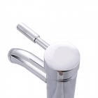 M7802 Modern Single Handle Double Control Cold / Hot Basin Faucet - Silver