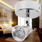 KX-S047A-31A Mini 3W 270LM 3200K Warm White Light Mini Wall Lamp - Silver (90~265V)
