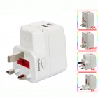 GQD Mini Portable Universal US / UK / EU / AU AC Power Adapter / Charger w/ 2 USB Ports (100~250V)