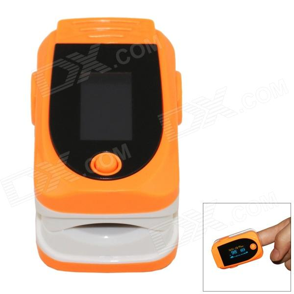 SPortguard Fingertip Pulse Oximeter SpO2 Heart Rate Monitor - Orange oled pulse finger fingertip oximeter blood spo2 pr heart rate monitor
