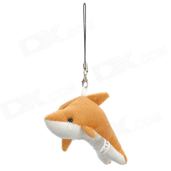 Cute Pleuche Dolphin Decoration Pendant Widget for Phone / Wallet / Bag - Brown + Beige