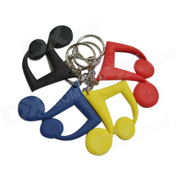 DEDO MG-60 Music Notes Styled PVC Key Chains -Blue + Black + Yellow + Red (4 PCS)