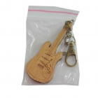 DEDO MG-56 Music Electric Guitar Keychain - Wood + Copper