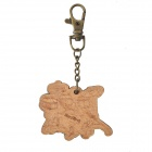 DEDO MG-48 Music Wood Drum Style Keychain - Wood + Copper