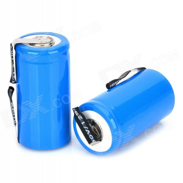 MT-007 Rechargeable 1.2V 1800mAh NiCd Battery - Blue (2 PCS) nickel stripe 1kg 0 2 8mm battery tabs nickel plate for 18650 mcu spot welder battery welding machine can cut stripe