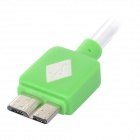 Blinkende USB 2.0 mannlige mikro 9-pinners USB mannlige Data Sync / ladekabel for Samsung Galaxy Note 3