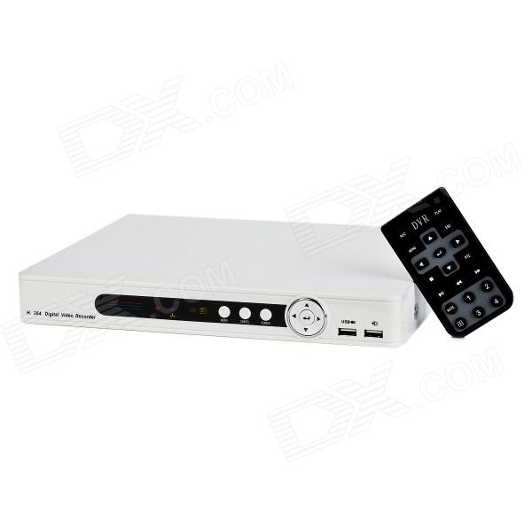 H.264 PAL CIF 4-channel DVR - White (US Plugs)