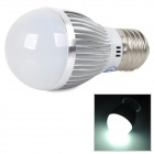 E27 3W 270lm 6000-6500K 6-SMD 5730-LED Neutral White Light Bulb - Silver White (100~260V)