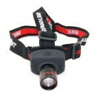 HolyFire C2 Cree XP-E Q5 350lm 3-Mode White Zooming Headlampp - Black + Red (3 x AAA)