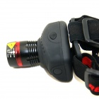 HolyFire C2 LED 350lm 3-Mode White Zooming Headlampp - Black + Red (3 x AAA)