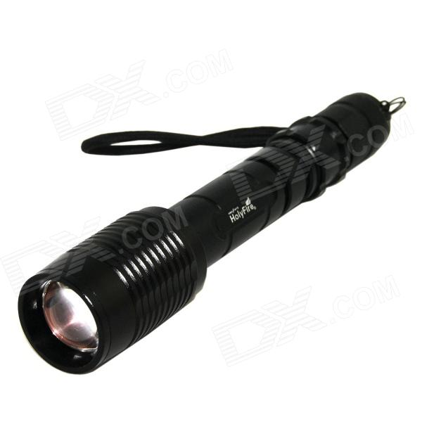 купить HolyFire X11 LED 900lm 5-Mode White Zooming Flashlight - Black (2 x 18650) недорого