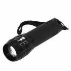 HolyFire H-L2 LED 200lm White Zooming Flashlight - Black (1 x 18650)